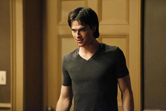 Ian jako Damon v Upířích denících