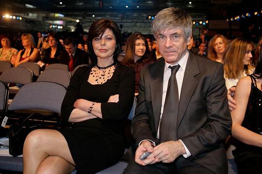 Andrea Čunderlíková s manželem Ladislavem Klainem na archivní fotce z roku 2009.