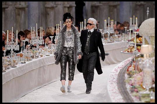 Modelka byla múzou Karla Lagerfelda.