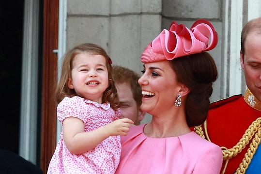 Malá Charlotte s vévodkyní Kate.