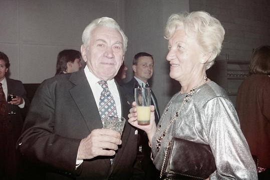 Jaroslav Štercl s manželkou