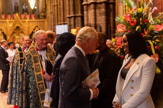U příležitosti oslav Commonwealth Day se letos Alexandra setkala s princem Charlesem.