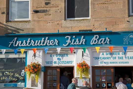 Do této restaurace ve městě Anstruther chodili na smaženou rybu s hranolky.