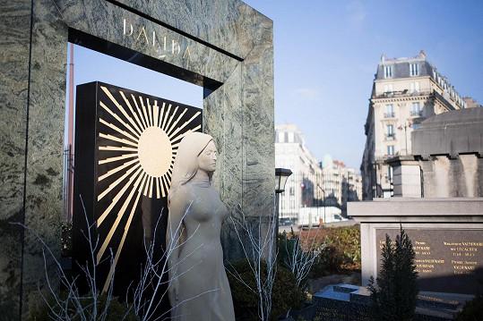 Hrobka Dalidy na hřbitově v pařížské čtvrti Montmartre.