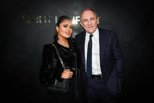 Salma Hayek a její manžel, podnikatel François-Henri Pinault. Mají spolu dceru Valentinu.