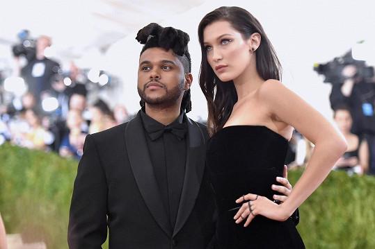 Modelka s přítelem The Weekndem