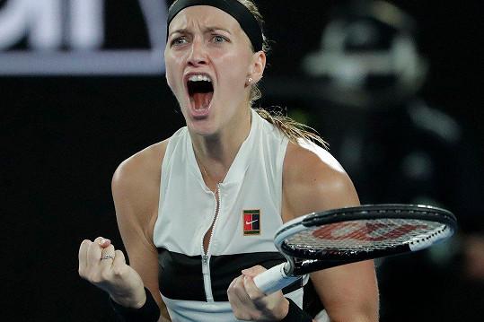 Petra Kvitová je ve finále Australian Open.
