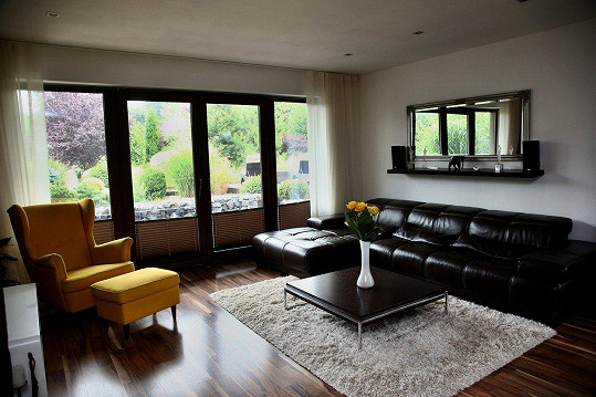 A takto vypadá obývací pokoj.