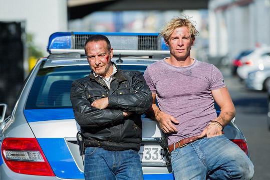 S kolegou Danielem Roesnerem v seriálu Kobra 11