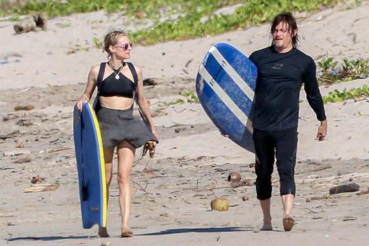 Ještě před pár dny si Diane Kruger a Norman Reedus užívali sluníčka na Kostarice.