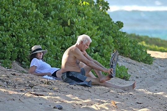 Manželé si užívali relax na Havaji.