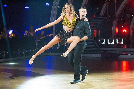 Daniela Hantuchová a její tanečník Erik Ňarjaš