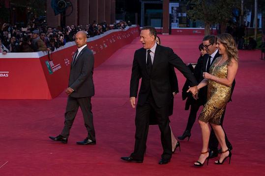 Rozverný pár byl na premiéře thrilleru Inferno ve skvělé náladě.