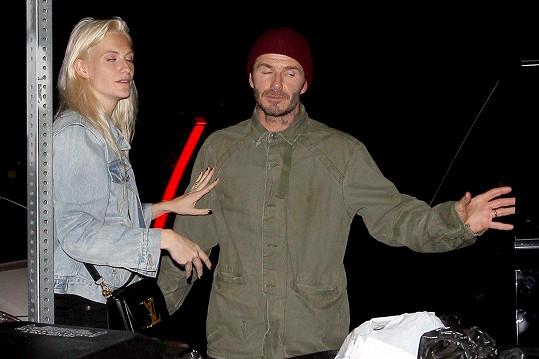 David Beckham a Poppy Delevingne