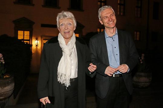 Jana Štěpánková se synem Janem