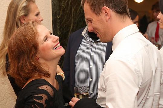 Kristýna Badinková Nováková s manželem Viktorem Badinkou. Mají syna.