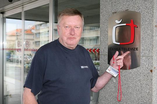 Miloš Frýba byl prvním mužským hlasatelem.