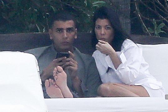 Kourtney Kardashian s přítelem Younesem Bendjimou