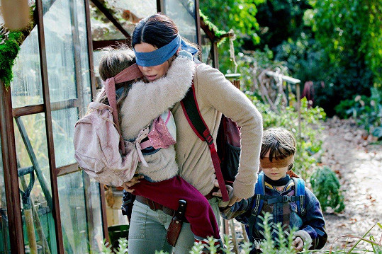 Sandra v roli matky ve filmu Bird Box