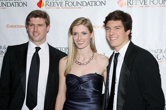 Christopherovy děti: zleva Matthew, Alexandra a Will