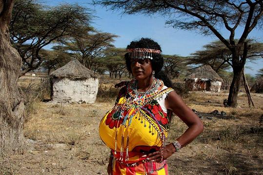 Martina Big se v Africe cítí jako doma.