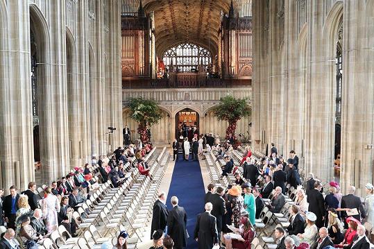 Obřad se uskutečnil v kapli sv. Jiří