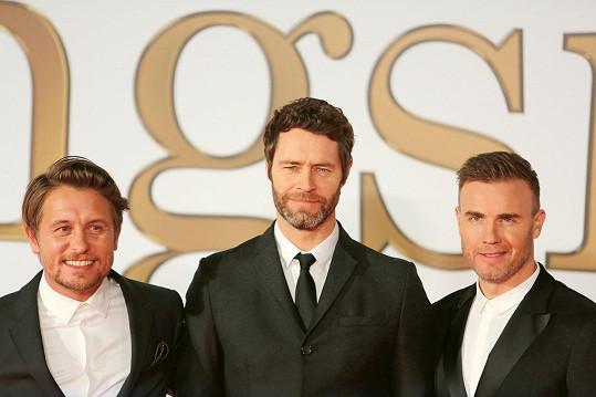 Ve třech vystupují Take That nadále. Zleva: Mark Owen, Howard Donald, Gary Barlow.
