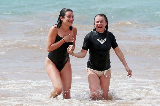 S maminkou Edith na dovolené na Havaji