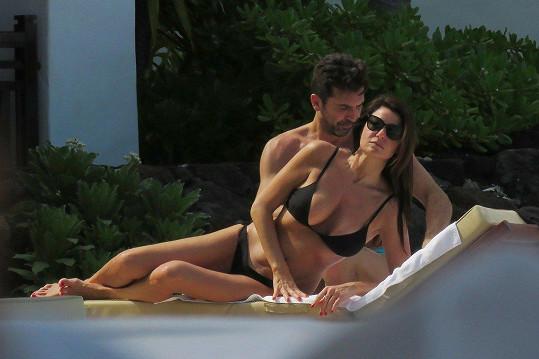 Buffon s partnerkou Ilarií