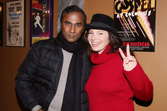 Fran Drescher s druhým exmanželem Shivou Ayyaduraiem