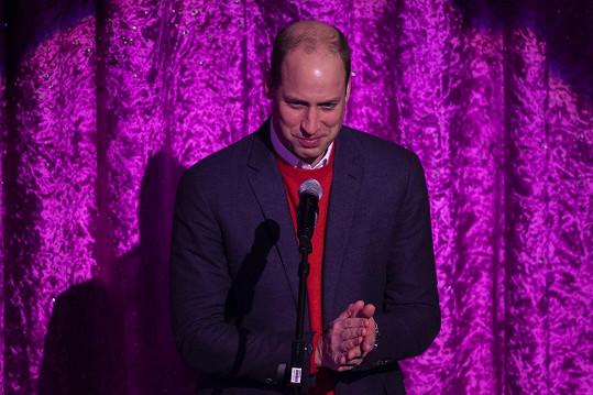 Princ William pronesl děkovnou řeč a uctil památku herečky Barbary Windsor.