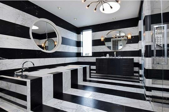 Nejčastěji v interiéru dominují černobílé pruhy.
