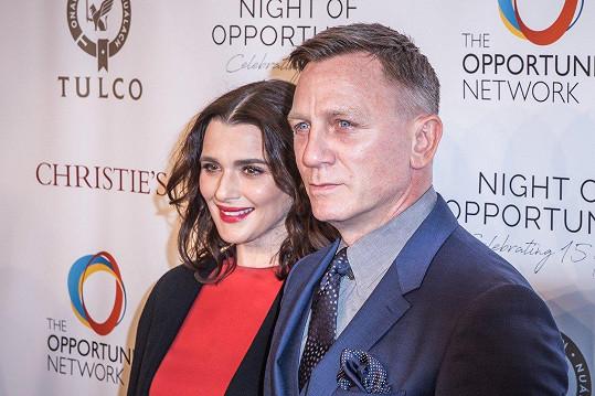 Rachel s manželem Danielem Craigem