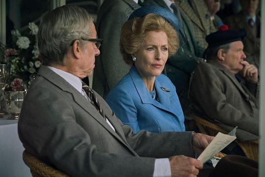 Jako Margaret Thatcherová v seriálu Koruna