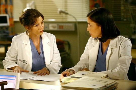 Role doktorky Meredith Grey z ní udělala globální hvězdu (na snímku s Chyler Leigh).