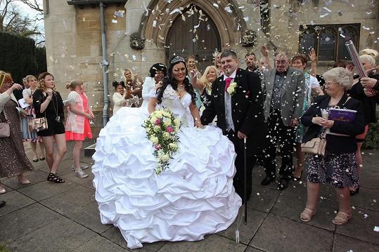 Na svatbě se nešetřilo.