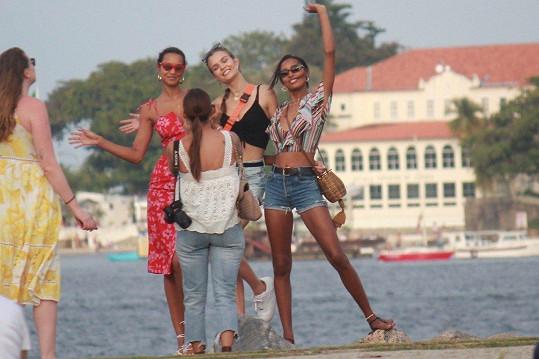 Takhle modelky tráví svou dovolenou.