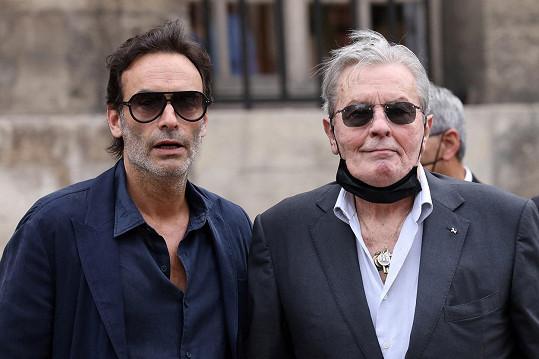 Herec Alain Delon se synem Anthonym