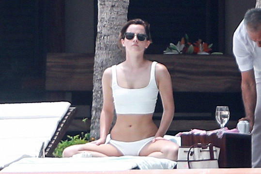 Emma Watson si oblíbila mexické letovisko Cabo San Lucas.