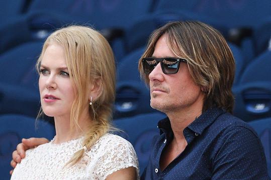 Nicole Kidman a Keith Urban sledovali Petru Kvitovou v semifinále Australian Open.