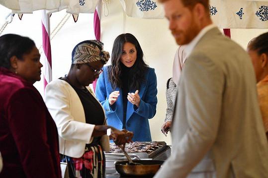 Vévodkyně ze Sussexu se dala na vaření.