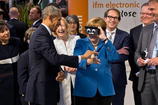 Vtipkovala i s Barackem Obamou.