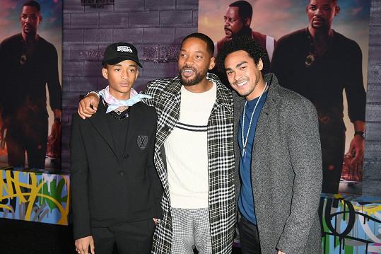 Will Smith se syny Jadenem a Treyem (vpravo)