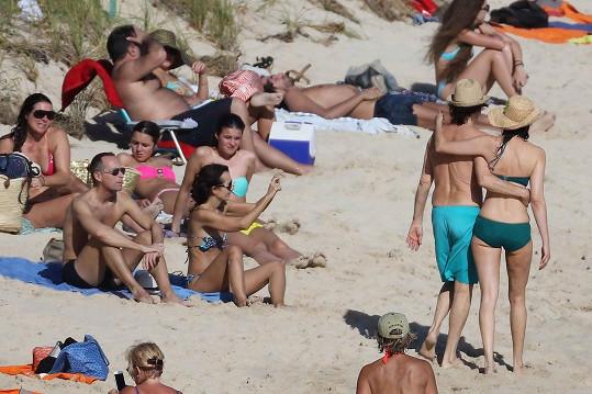 Dvojice budila pozornost, někteří turisté si ji dokonce fotili na mobily.