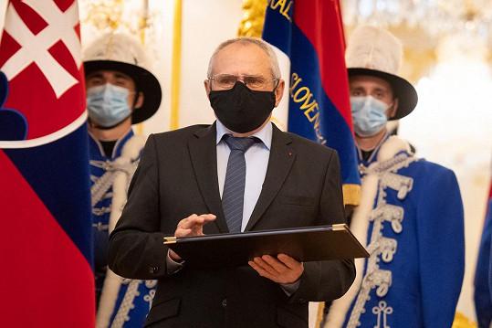 Milan Kňažko nedávno převzal státní cenu Jozefa Miloslava Hurbana.
