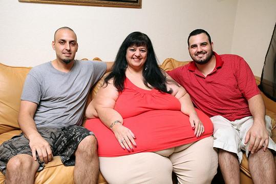 Patty se svými syny Loganem a Scottem