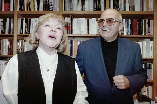 Štěpánka Haničincová na archivním snímku se svým třetím manželem Janem Přeučilem