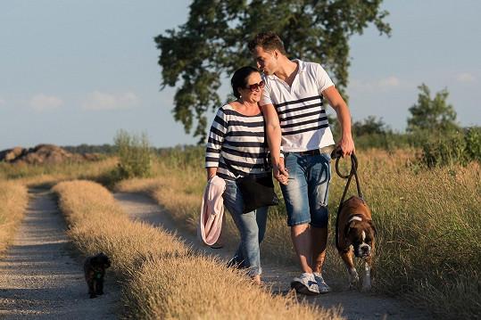 Hana Gregorová a Ondřej Koptík si užívají romantiku na dovolené.
