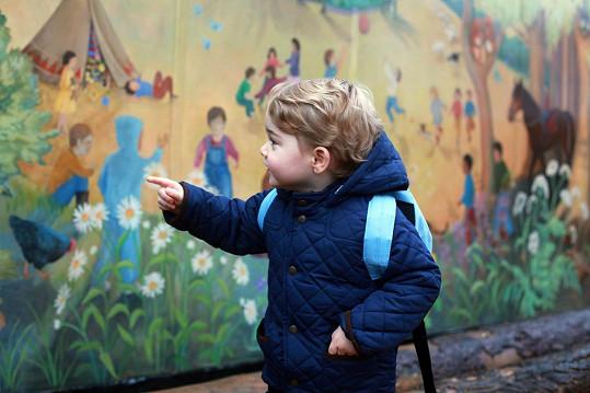 George zaujala pomalovaná zeď...