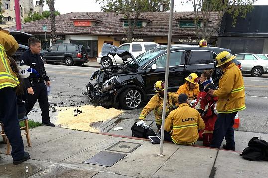 Herečka byla po nehodě převezena do nemocnice.